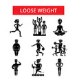 loose weight thin line icons linear vector image