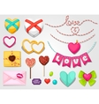 Set of hearts objects decorations Can be used vector image