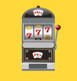 slot machine realistic style vector image