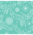 Seamless pattern with pegasuses vector image