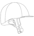 Horse riding helmet vector image