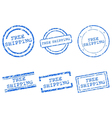 Free shipping stamps vector image vector image
