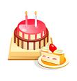 icon cake vector image vector image