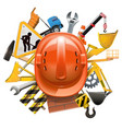 construction concept with helmet vector image