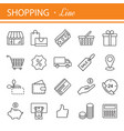 e-commerce outline web icons set vector image