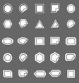 Label icons on gray background vector image