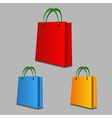 Shopping bags on grey background vector image