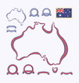 Colors of Australia vector image