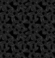 Monochrome starfish pattern vector image