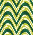 Retro 3D bulging light green waves diagonally cut vector image vector image
