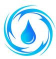 Water-drop vector image