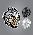 monkey linethai emblem logo vector image vector image