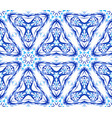 blue flower fractal triangular pattern vector image