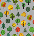 Different trees seamless background vector image