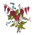elegance floral bouquet vector image