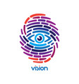 fingerprint with eye vector image