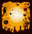flat halloween symbols poster vector image