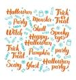 Halloween Lettering Set vector image