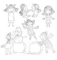 little girls and boys smiling vector image
