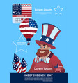 man wear united states flag colored flag vector image