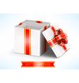 opened white gift box vector image