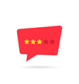 three rating star speech bubble like neutral vector image