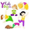 Yoga kids set 2 vector image