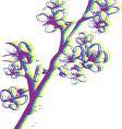 Artistic leaf vector image