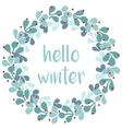 Hello winter card with pastel wreath vector image vector image