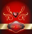 Valentine celebration card vector image vector image