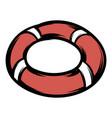 red lifebuoy icon cartoon vector image