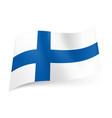 national flag of finland blue cross on white vector image