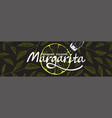 restaurant or cocktail bar horizontal banner vector image vector image