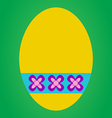 Yellow easter egg vector image vector image
