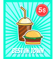 burger poster vector image
