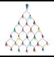 Christmas tree garland lights string vector image