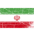 Flag of Iran with old texture vector image