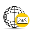 global email concept world message vector image