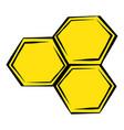honeycomb icon icon cartoon vector image