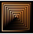 orange neon square background vector image