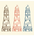 Retro lighthouses set vector image