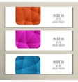 Set 3 abstract banner with triangle background vector image
