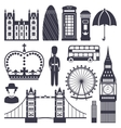 Silhouette Symbols of Great Britain Kingdom vector image