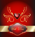 Valentine celebration card vector image