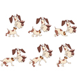 Cartoon Character Cute Hunting Dog for Computer vector image