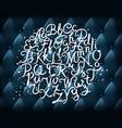 hand written alphabet vector image