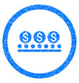 money conveyor rounded grainy icon vector image