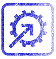 cog integration framed textured icon vector image