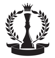 chess queen vector image