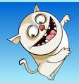 Cartoon character cheerful funny chubby cat vector image